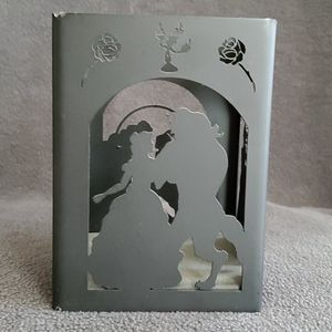 Disney couple themed candle holder